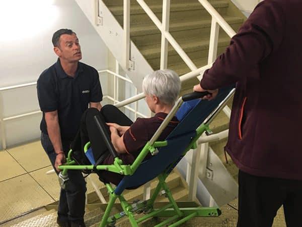 evacuation-chair-on-stairs